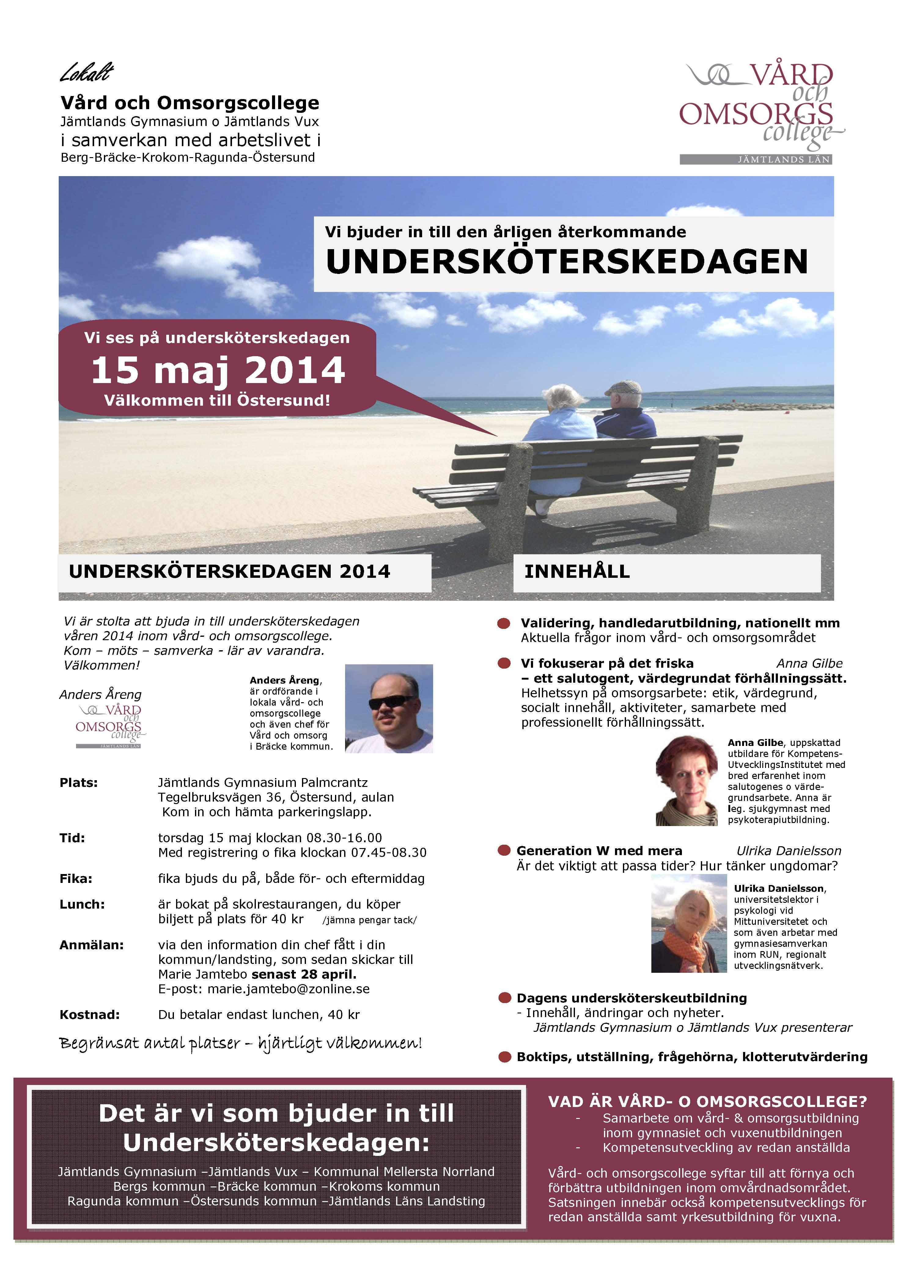 Voc Undersköterskedagen 15 maj 2014 inbjudan starkare