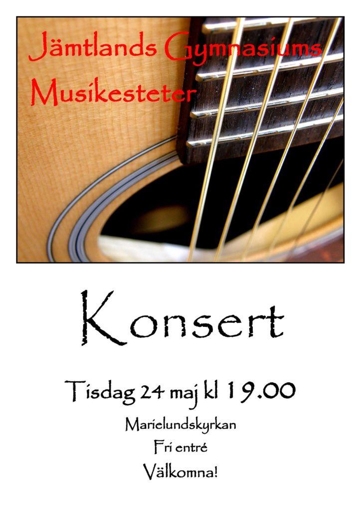 Affisch klassisk konsert 2016, 24 maj